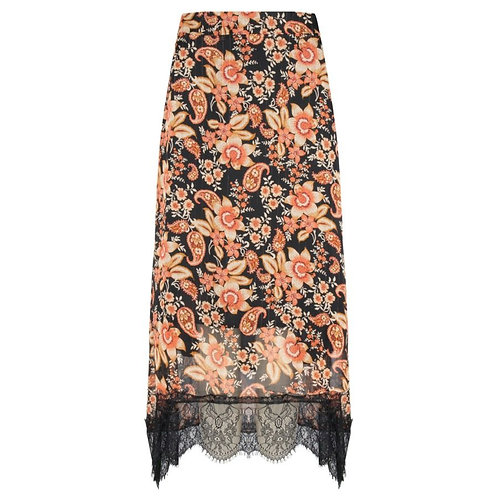 Esqualo Floral Skirt With Lace