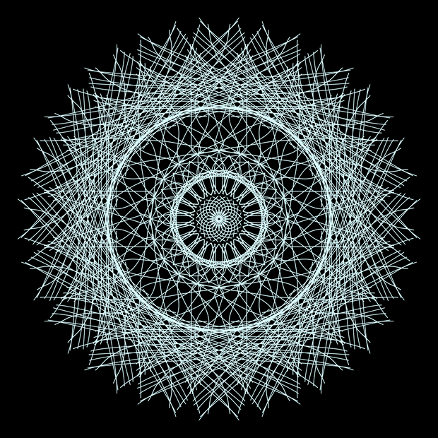 Mandala White Haze