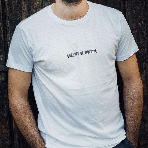 T-shirt Homme - Changer de MO(N)DE - Blanc