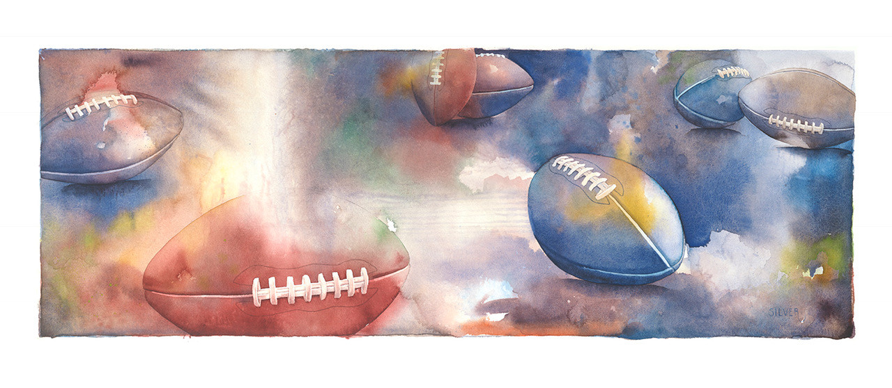 COLOR BURST OF FOOTBALLS