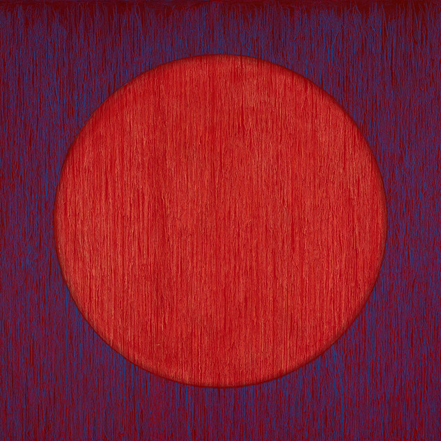 "EARTHSHINE Oil on Canvas 36"" x 36"""