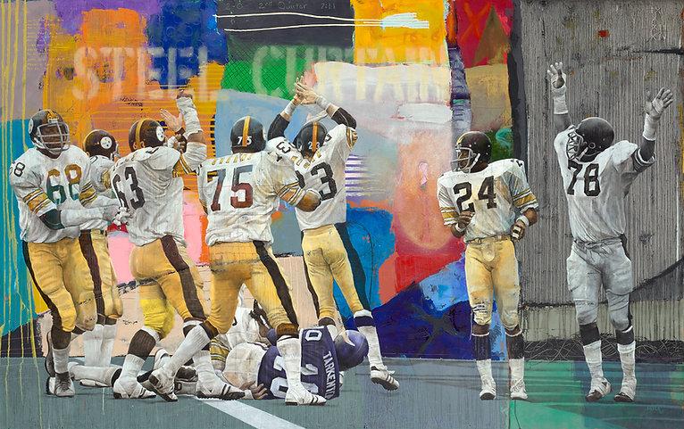 "STEEL CURTAIN Oil on Canvas 60"" x 96"""