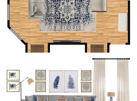 Transitional Living Room Mood Board