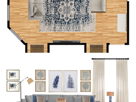 Transitional Living Room Mood Board
