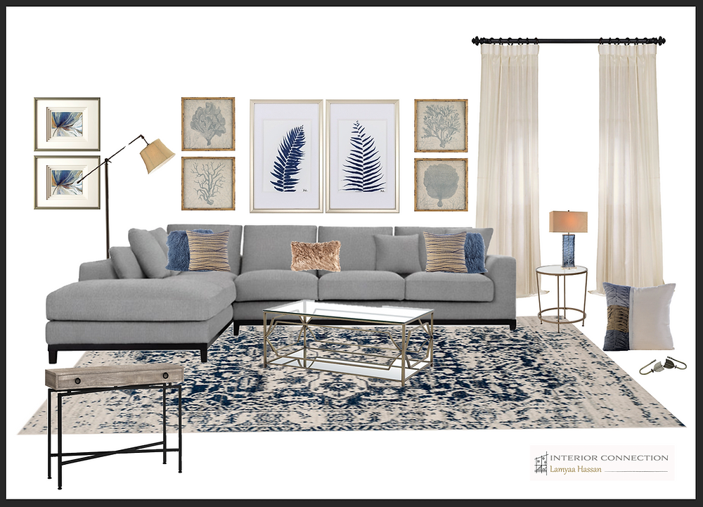 E design is easy way to shop the look for your living room