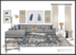 E-deign living room 3D render