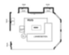 LIVING ROOM FLOOR PLAN/ E-DESIGN