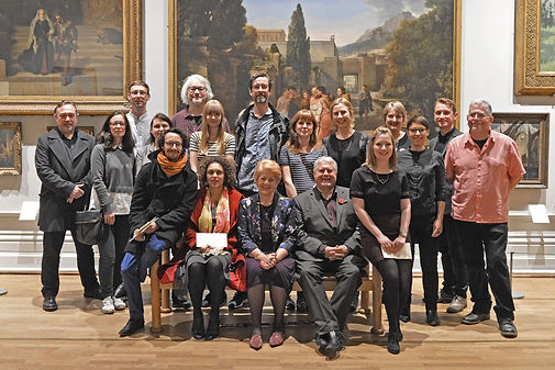 Prizewinners and curators at the 2015 Nottingham Castle Open.