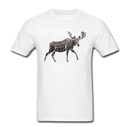 Geometric moose T-shirt