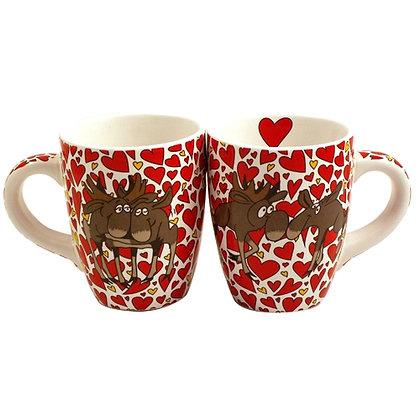 Romantic moose mug
