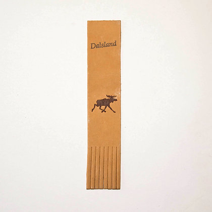 Moose bookmark in leather