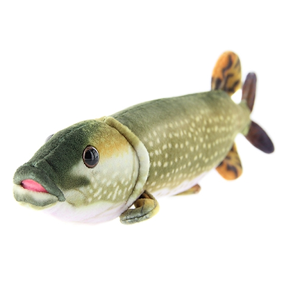 Pike fish soft toy
