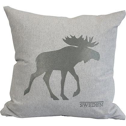 Grey ECO moose cushion cover