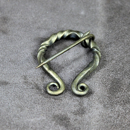 Cloak pin, small, bronze colored, penannular brooch
