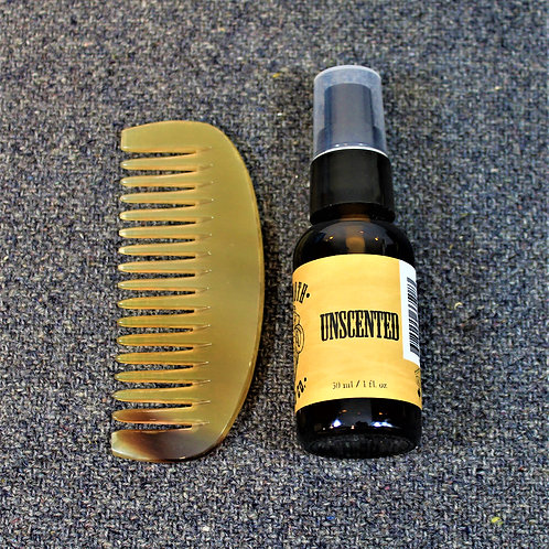 SALE - Mammoth beard oil and horn comb, Unscented