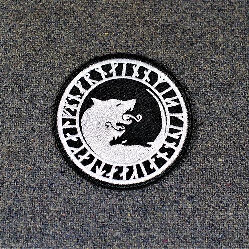Norse mythology iron on patch, Viking wolf motif