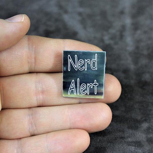 Nerd alert, horn pin, brooch
