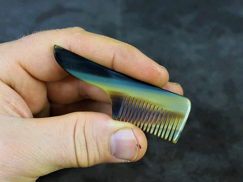 Moustache comb, made from horn