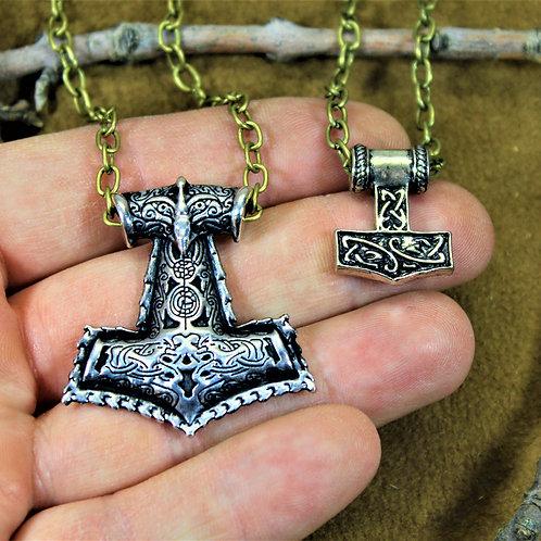 Viking Valentine's Day set, pair of hammers