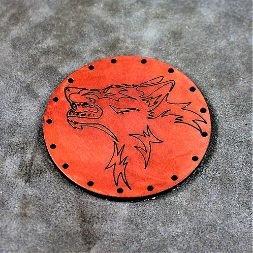 Fenris wolf leather patch