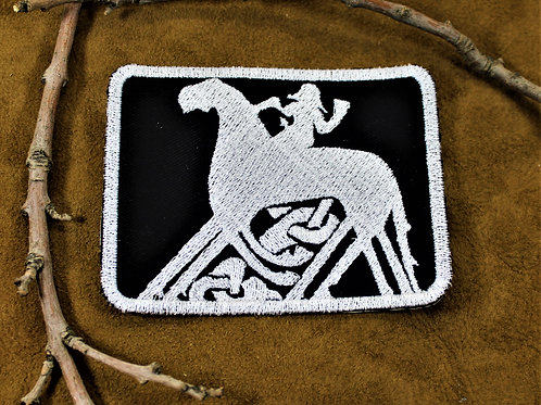 Odin riding Sleipnir, sew on cloth patch
