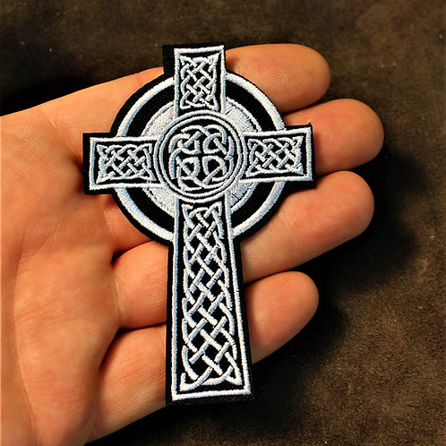 Celtic cross iron on patch