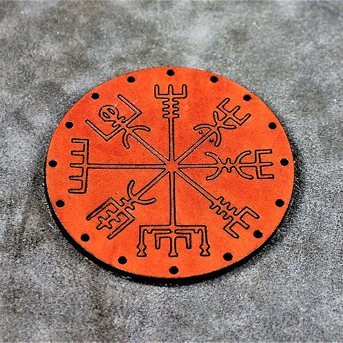 Vegvisir leather sew on patch