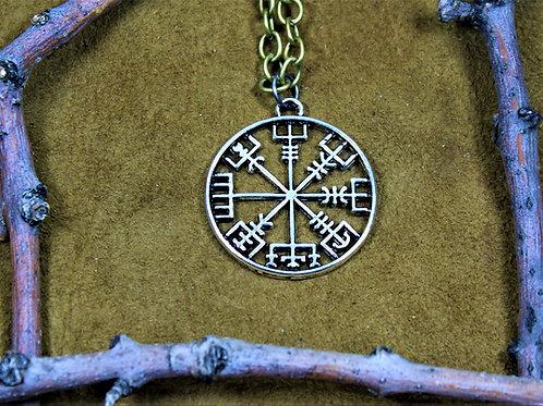 Vegvisir - runic compass - necklace