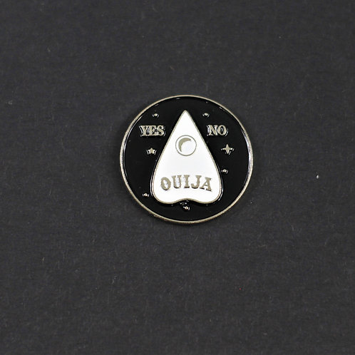 Ouija pin, enamelled and awesome