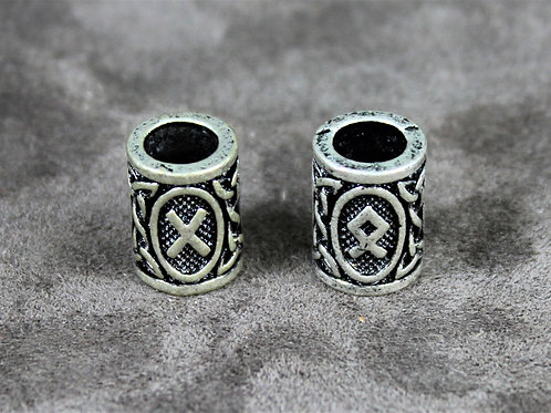 Beard beads, Elder Futhark runes, set of two
