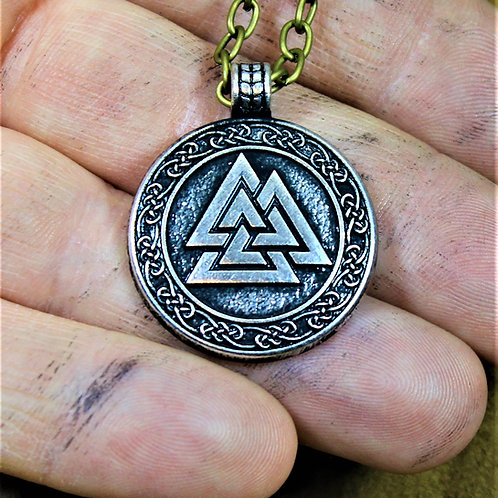 Deluxe Valknut necklace
