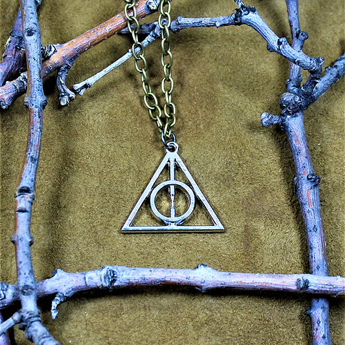 Deathly Hallows necklace, pendant on chain