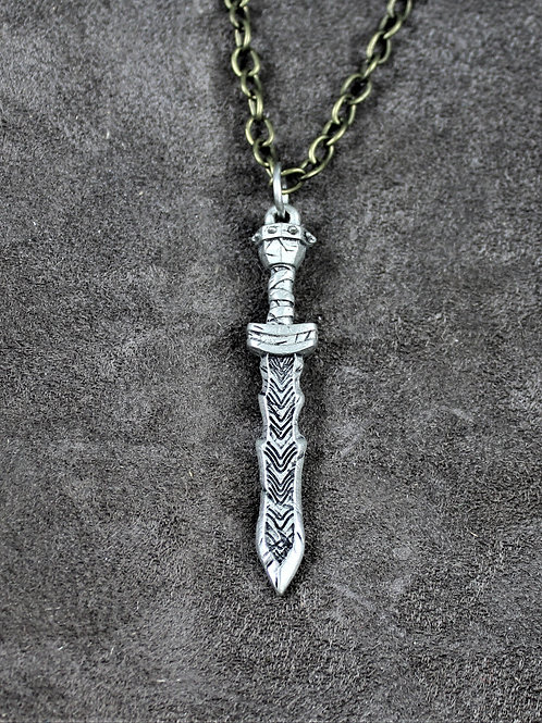 Dwarven sword necklace, double sided