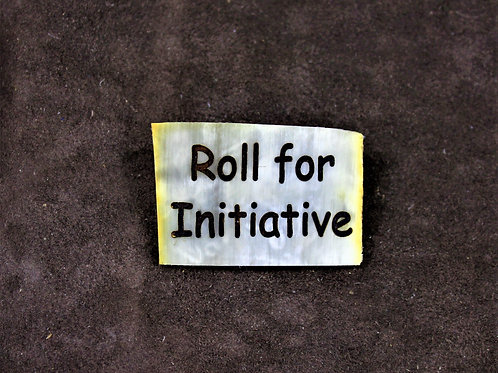 Roll for initiative, horn pin, brooch