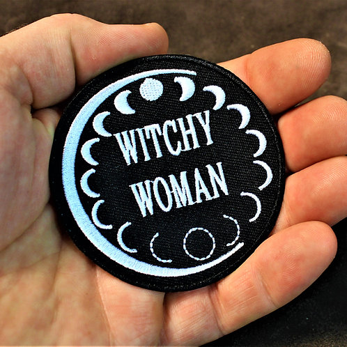 Witchy woman patch, iron on