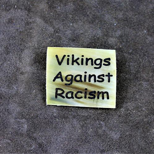 Vikings against racism, horn pin, brooch