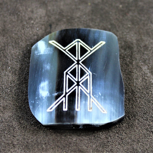 Health and Vitality bind-rune brooch (pin) made of horn
