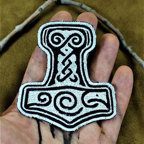 Mjolnir, hammer of Thor, cloth sew on patch