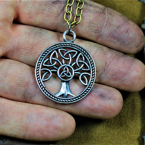Celtic tree necklace, knotwork pendant