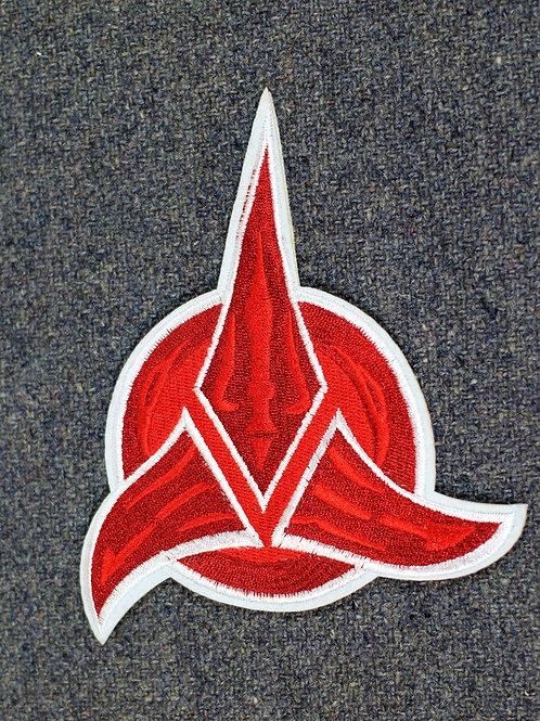 Klingon empire iron on patch