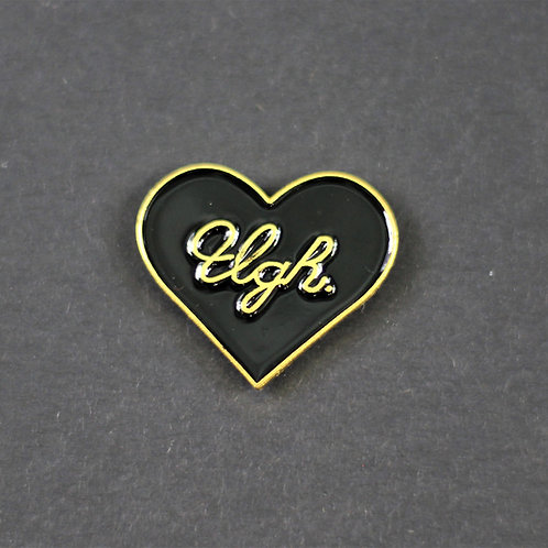 Ugh pin, enamelled metal, hilariously accurate