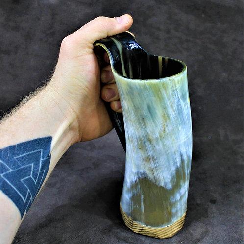 Drinking horn mug - standard size, colorful
