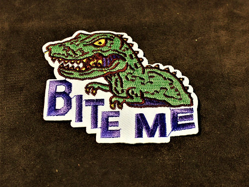 Bite me dinosaur patch