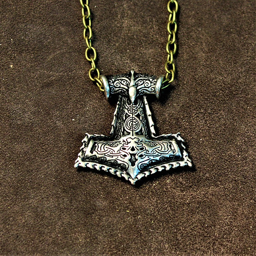 Thor's hammer necklace, big and bold