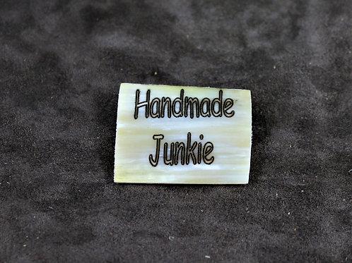 Handmade junkie, horn pin, brooch