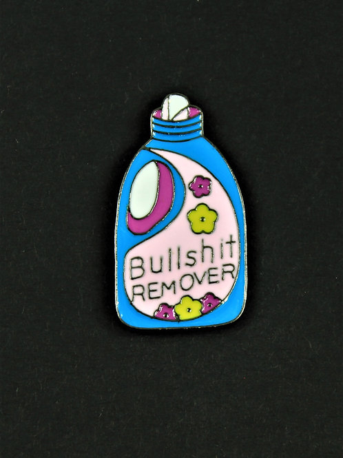 Remover pin, enameled metal, hilarious
