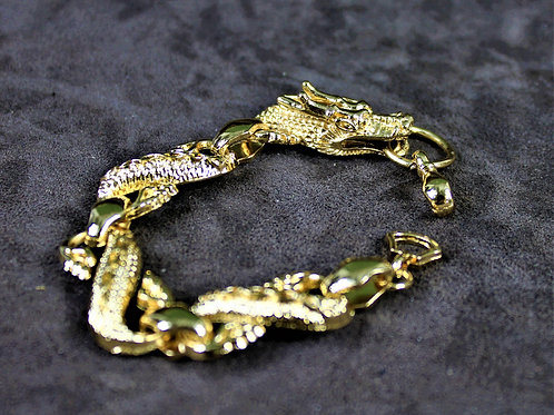 Lucky dragon bracelet, gold finish