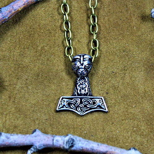 Bearded Thor's hammer necklace