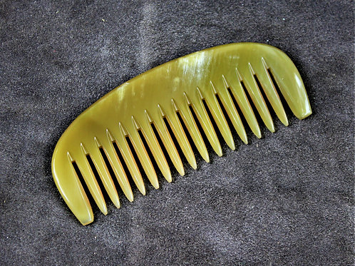 Beard comb, made from horn, two toned color scheme
