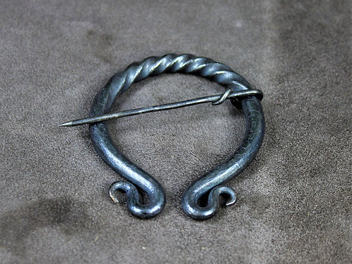 Cloak pin, large, penannular brooch, hand forged
